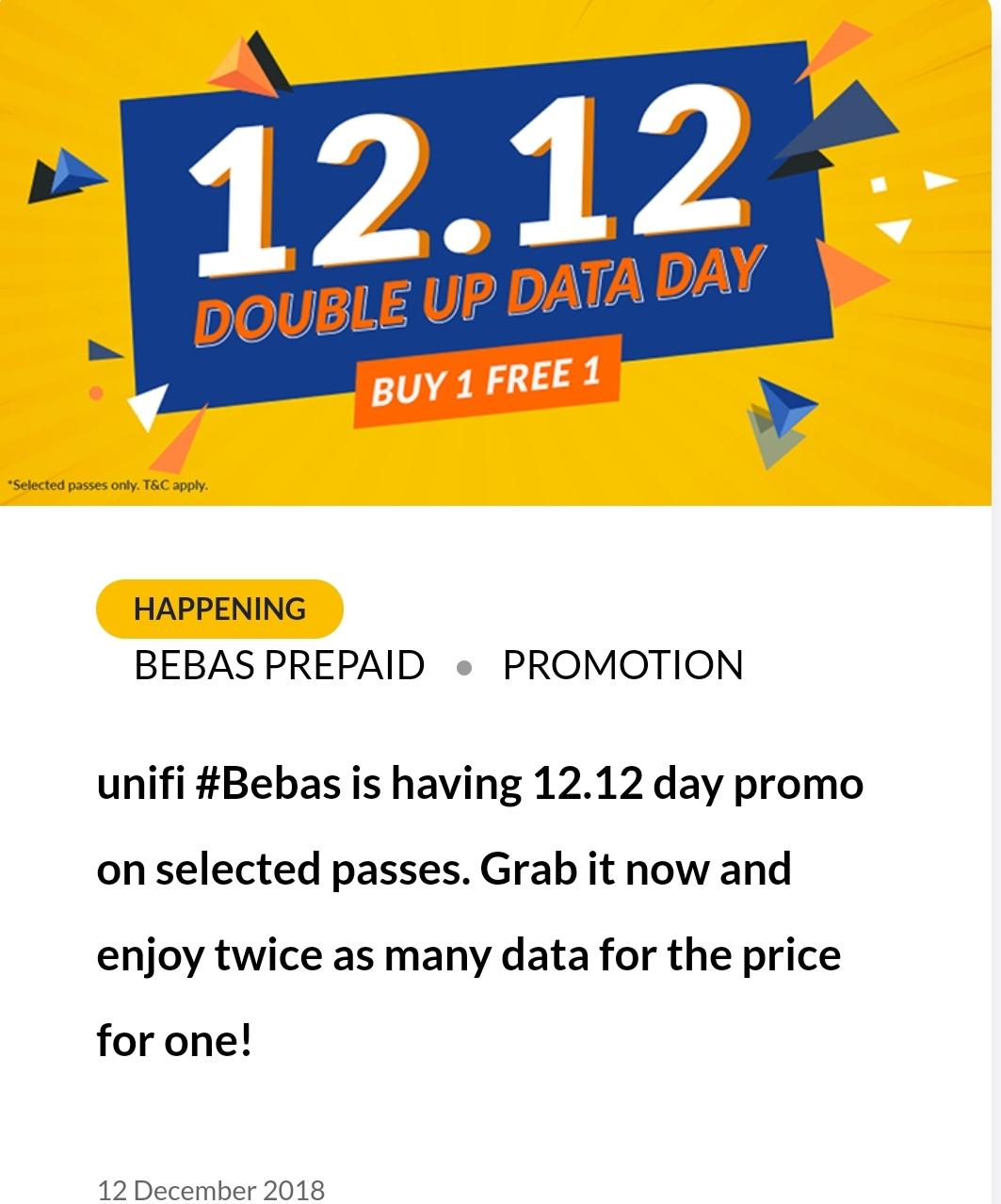 Unifi Mobile Buy 1 Free 1 12 12 Promo