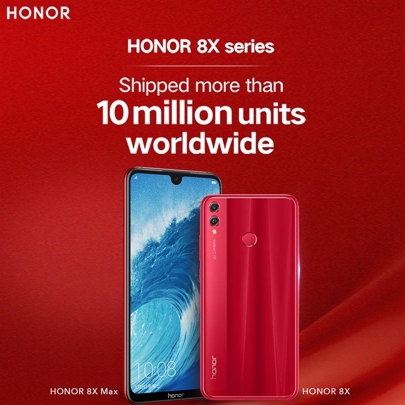10 million HONOR 8X Shipped Worldwide