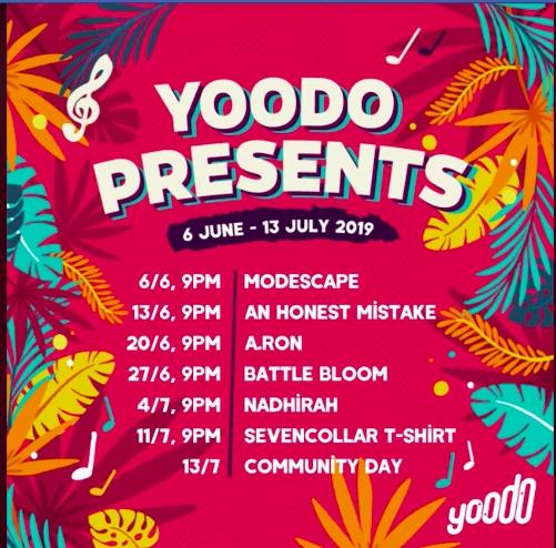 Yoodo Presents line-up-2019