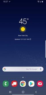 Verizon Samsung Galaxy J7 V (2nd gen) updated to Android 9 Pie