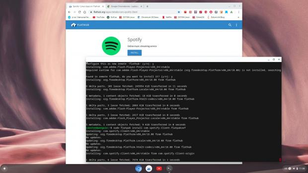 Installing Spotify with Aptoide