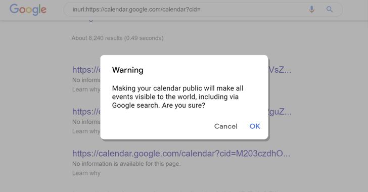 google calendar search
