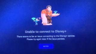 Disney+ error screen