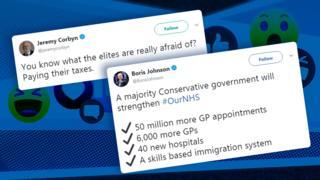 Jeremy Corbyn and Boris Johnson tweets