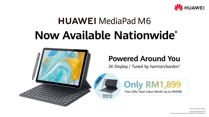 "Photo of HUAWEI MediaPad M6 10.8"" Tablet now available in Malaysia"