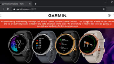 Photo of Smartwatch Maker Garmin Shuts Down Services After Ransomware Attack