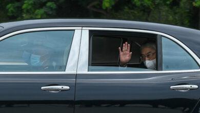 Photo of Agong arrives at Istana Negara