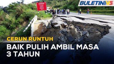 CERUN RUNTUH | Baik Pulih Jalan Simpang Pulai-Blue Valley Ambil Masa Hingga 2024