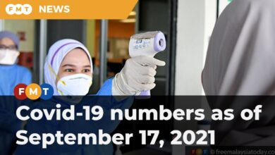 Covid-19 numbers as of September 17, 2021